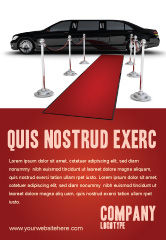 Art & Entertainment: Limousine Ad Template #05720