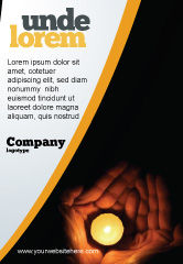 Religious/Spiritual: Candle In Hands Ad Template #05771
