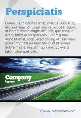 Construction: Plantilla de publicidad - autopista del amanecer #05781