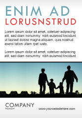 People: Family Wandeling Advertentie Template #05802