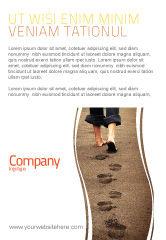 Religious/Spiritual: Sand Footprints Ad Template #05834