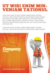 Construction: Symbolic Figure Of A Builder Ad Template #05877