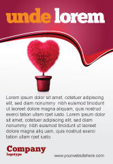 Careers/Industry: Fuchsia Heart Ad Template #05917