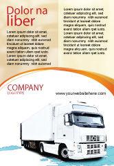 Cars/Transportation: 卡车拖拉机广告模板 #05987