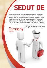 Medical: Plantilla de publicidad - paciente y médico #06021
