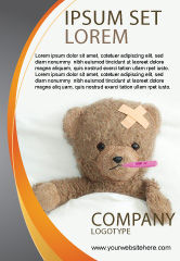 Medical: Modelo de Anúncio - ursinho ferido #06030