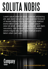Art & Entertainment: Music Stave Ad Template #06089