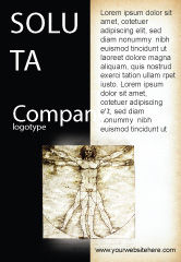 Education & Training: Vitruvian Man By Leonardo da Vinci Ad Template #06107