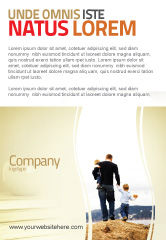 People: Father and Kids Ad Template #06118