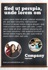 Education & Training: Modelo de Anúncio - quadro-negro #06184