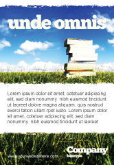 Education & Training: Book Pile Ad Template #06195