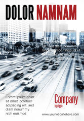 Cars/Transportation: Plantilla de publicidad - autopista de la ciudad #06261