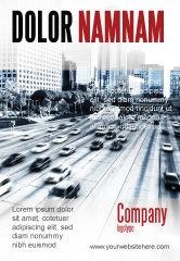 Cars/Transportation: 城市高速公路广告模板 #06261