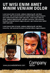 People: Children Around The World Ad Template #06312