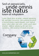 Nature & Environment: Recycle Ad Template #06325