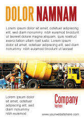 Construction: Concrete Agitator Advertentie Template #06449