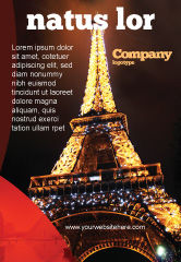 Flags/International: Templat Periklanan Liburan Menara Eiffel #06450