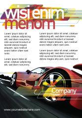 Cars/Transportation: Plantilla de publicidad - supercar rojo #06454