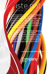 Telecommunication: Cables Ad Template #06465