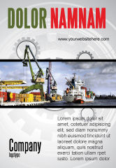 Cars/Transportation: Scheepswerf Advertentie Template #06499