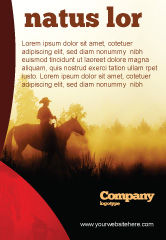 America: Cowboy Ruiter Advertentie Template #06571
