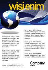 Global: Midnight Blue Globe Ad Template #06588