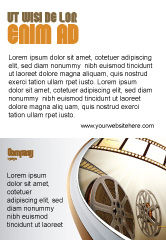 Art & Entertainment: Film Reel In Light Brown Color Ad Template #06599