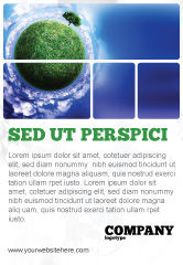 Nature & Environment: Green Planet In the Space Ad Template #06693