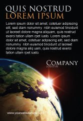 Global: Zonsopgang In De Ruimte Advertentie Template #06729