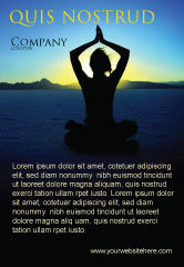 Religious/Spiritual: Contemplation Ad Template #06786