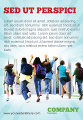 Education & Training: Schoolkinderen Advertentie Template #06830