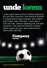 Sports: Football Stadium In The Night Ad Template #06916