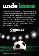 Sports: 夜のサッカースタジアム - 広告テンプレート #06916