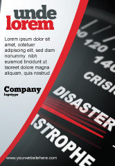 Financial/Accounting: Catastrophe Speedometer Ad Template #06936