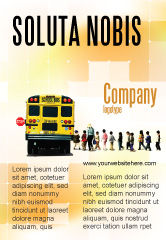 Education & Training: School Bushalte Advertentie Template #06967