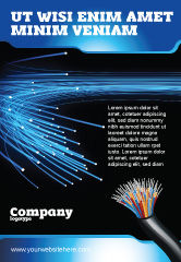 Technology, Science & Computers: Blue Optic Fibers Ad Template #07052