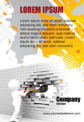 Business Concepts: Breaking the Wall Ad Template #07058
