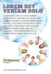 People: Modèle de Publicité de circulaire du personnel médical #07059