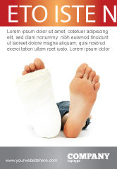 Medical: Foot Plaster Ad Template #07080