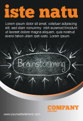 Business: Brainstorming Ad Template #07268