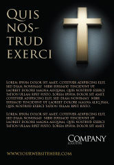 Religious/Spiritual: Cross In The Dark Ad Template #07291