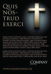 Religious/Spiritual: Plantilla de publicidad - cruz en la oscuridad #07291