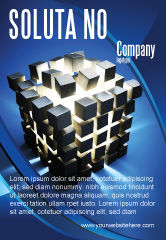3D: Modèle de Publicité de concept des pièces en cubes #07391