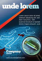 Legal: Crime Scene Investigation Ad Template #07467