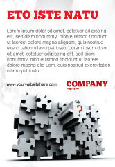 Consulting: 3 Dimensional Puzzle Ad Template #07476