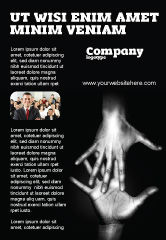 Religious/Spiritual: Reaching Hands Ad Template #07634