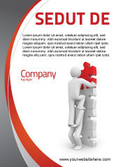Consulting: Jigsaw Ladder Advertentie Template #07644