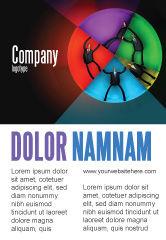 Consulting: Concept Taartdiagram Advertentie Template #07648