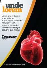 Medical: Model Of Heart Ad Template #07662