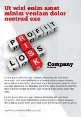 Financial/Accounting: Profit and Risk Ad Template #07669